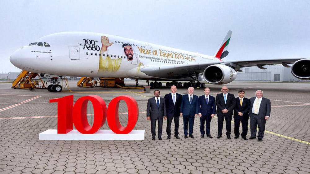 Year of Zayed A380 Aircraft Launched by Etihad Airways